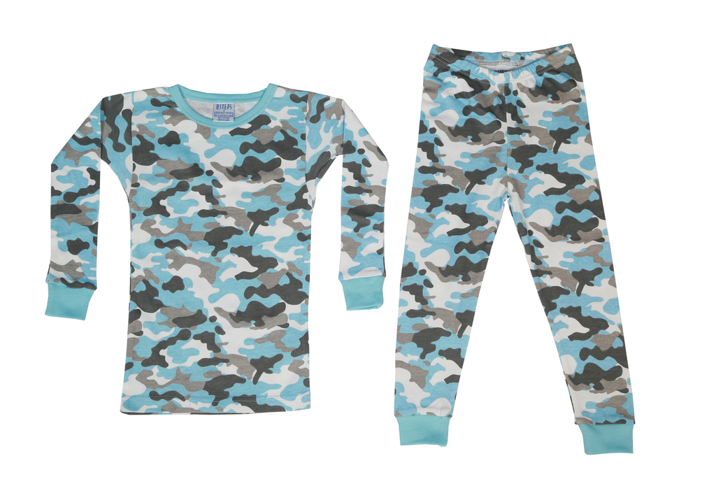 Boys 2 Piece Set - Blue Camo