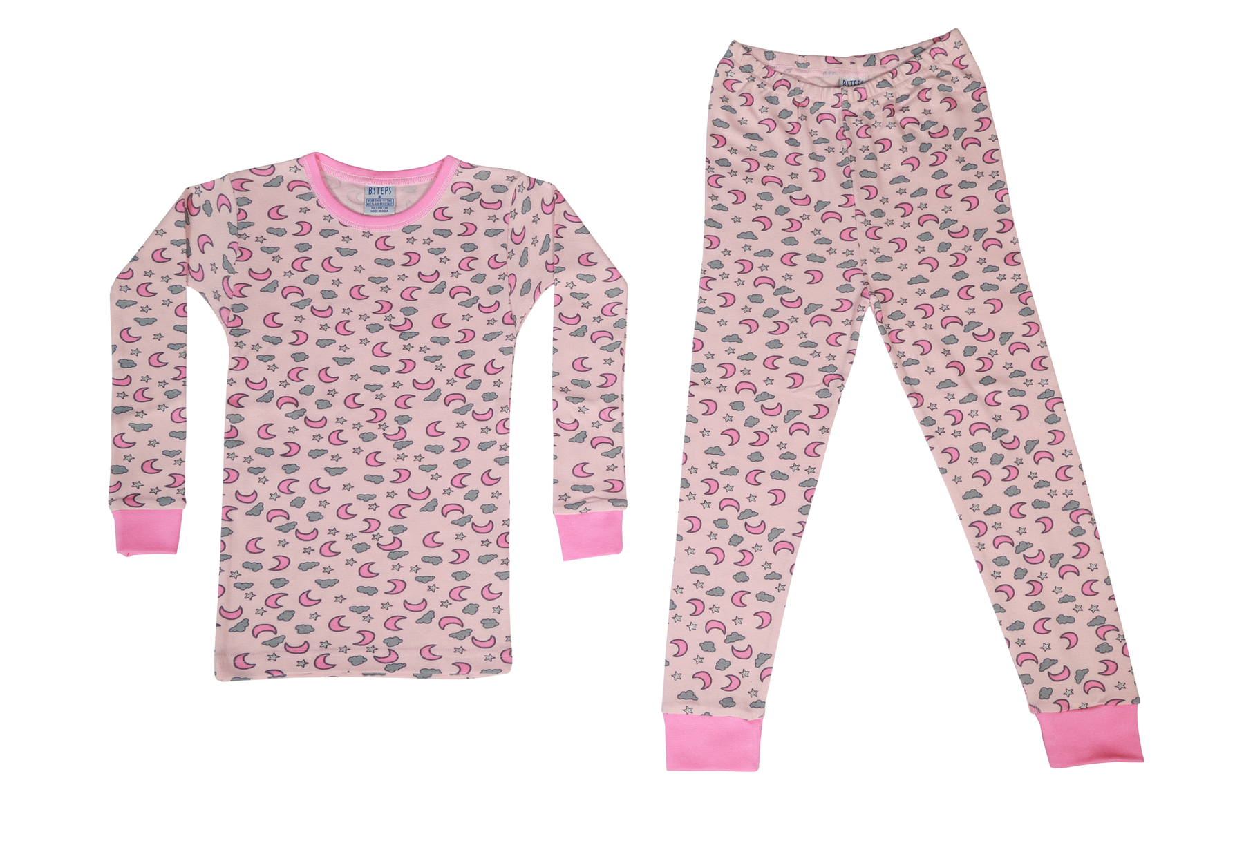 Pajamas - Moon Print on Pink