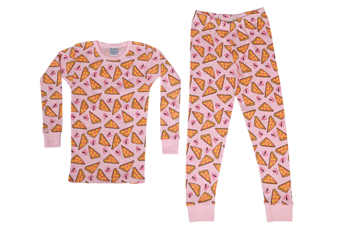 Pajamas - Pizza Love - Pink (available in 24M only)