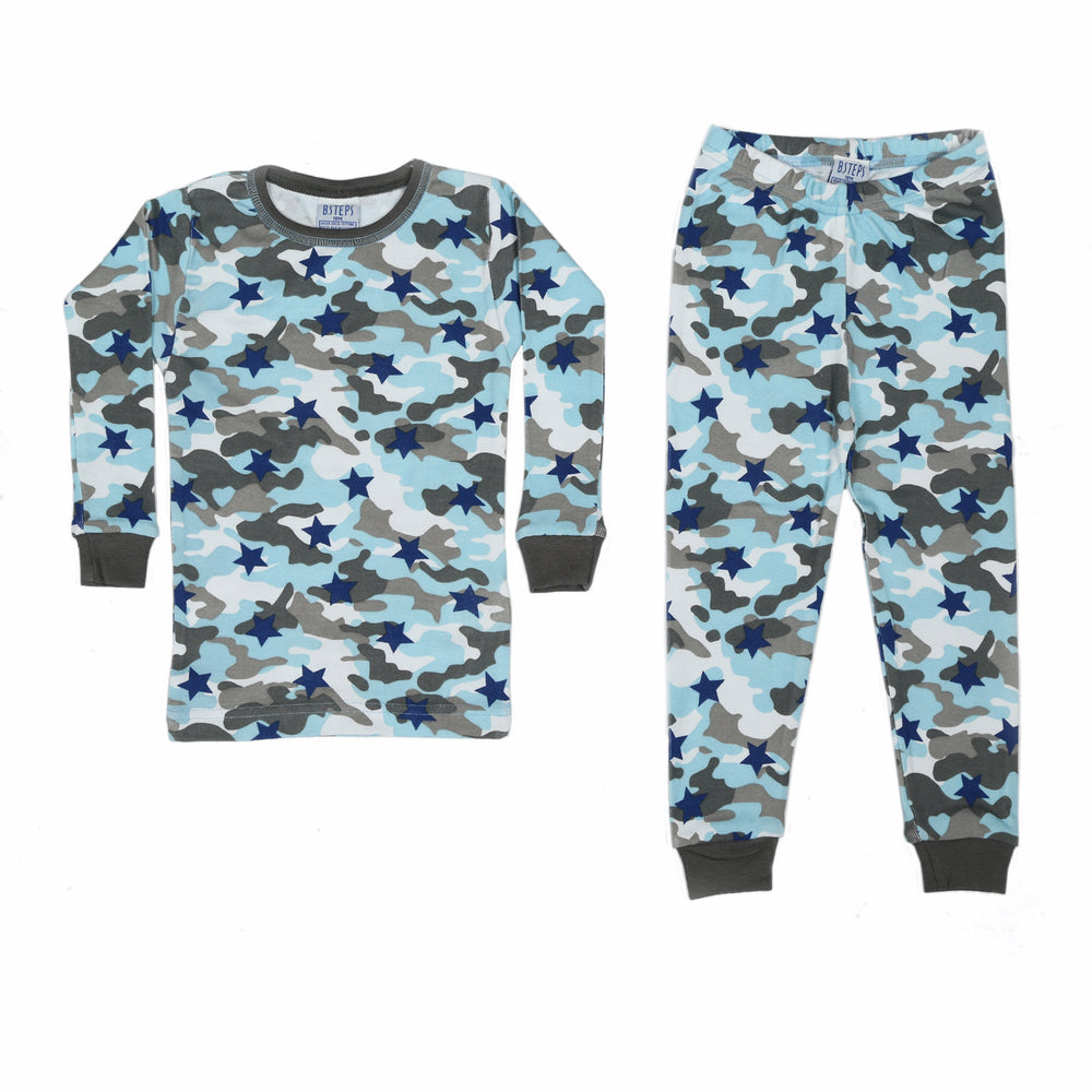 NEW Pajamas - Blue Camo Stars (4338474319947)