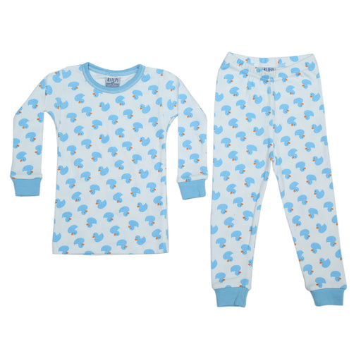 NEW Pajamas - Blue Ducks (available in Sizes 12M-18M-24M only) (4338471764043)