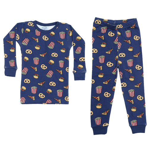 NEW Pajamas - Junk Food on Navy