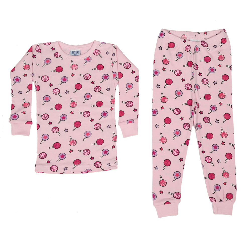 NEW Pajamas - Lollipops on Pink (4338696880203)