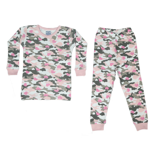 NEW Pajamas - Pink/Gray Camo Hearts (4338712346699)