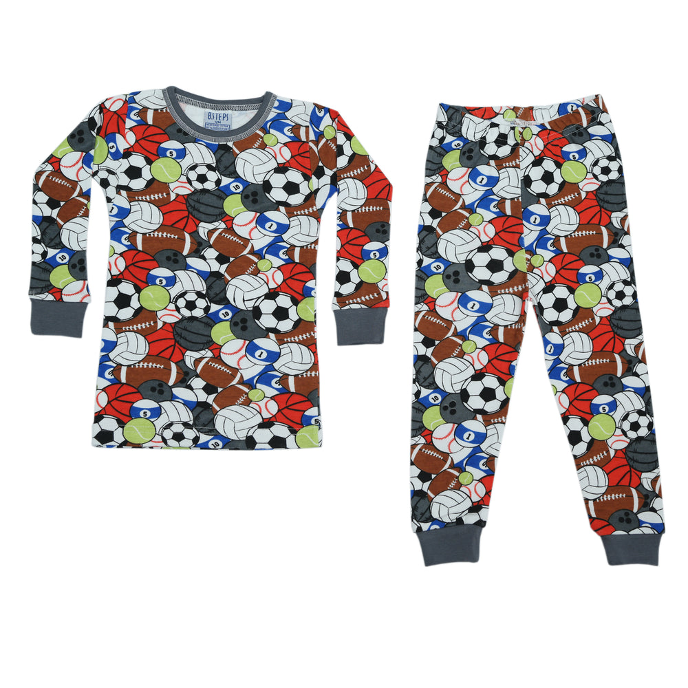 NEW Pajamas - Multi Colored Sports (4338488148043)