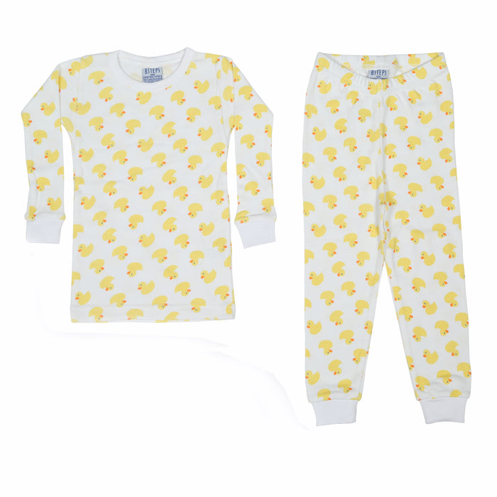 NEW Pajamas - Yellow Ducks (available in Sizes 12M-18M-24M only) (4338467635275)