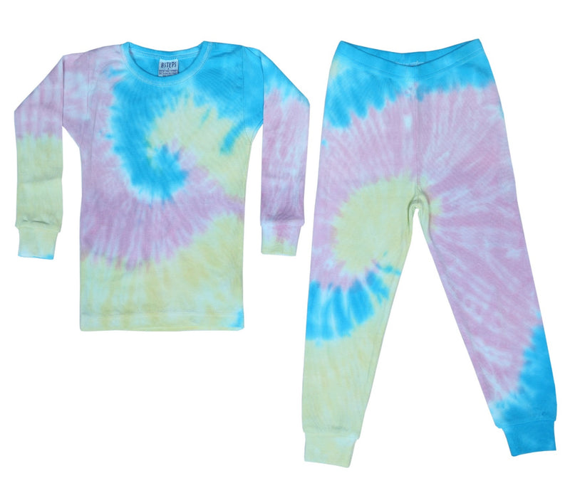 NEW!  NON-THERMAL Tie Dye Pajamas - Ella (4645366071371)