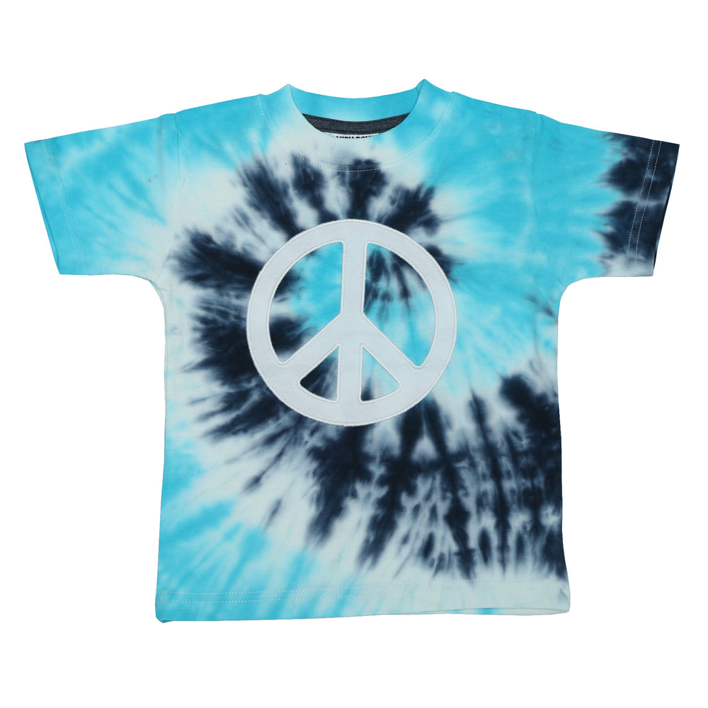 T-Shirt - Peace Sign on Blue (4464813375563)