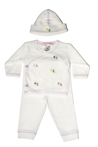 Baby Girl 3 Piece Take Me Home Multi Flowers