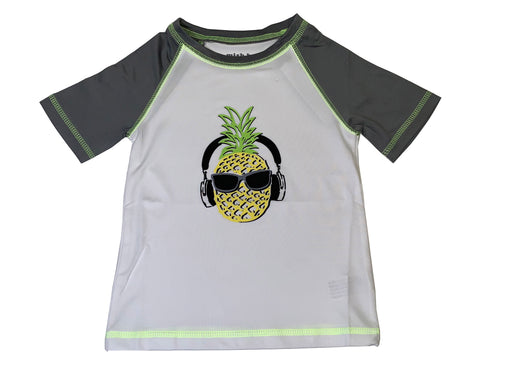 Short Sleeve Rash Guard - Pineapple - Available in sizes 5, 6, 7 (4464282533963)