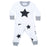 NEW Little Mish Thermal Shirt/Pants Set - White/Black Stars
