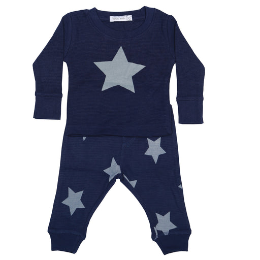 NEW Little Mish Thermal Shirt/Pants Set - Navy with Heather Stars (available in 12M only) (3975176912971)