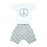 NEW Little Mish Shorts Set - Heather Gray Peace Signs (4497801936971)