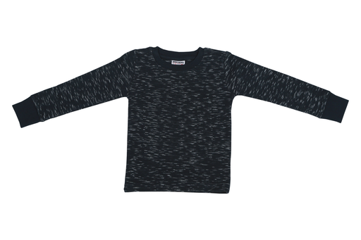 Long Sleeve Slub Thermal Shirt-NAVY
