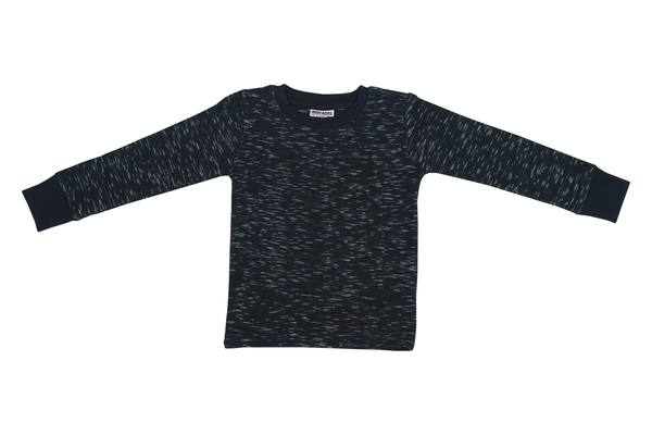 Long Sleeve Slub Thermal Shirt - Navy