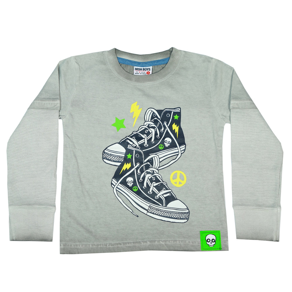 Long Sleeve 2Fer Shirt w Thermal Sleeves - Sneakers (3854304149579)
