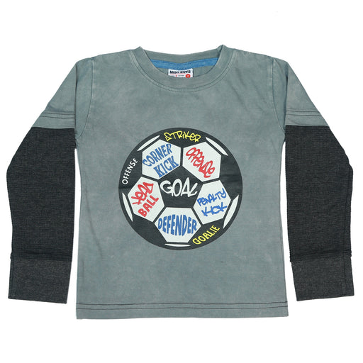 Long Sleeve 2Fer Shirt w Thermal Sleeves - Soccer Ball