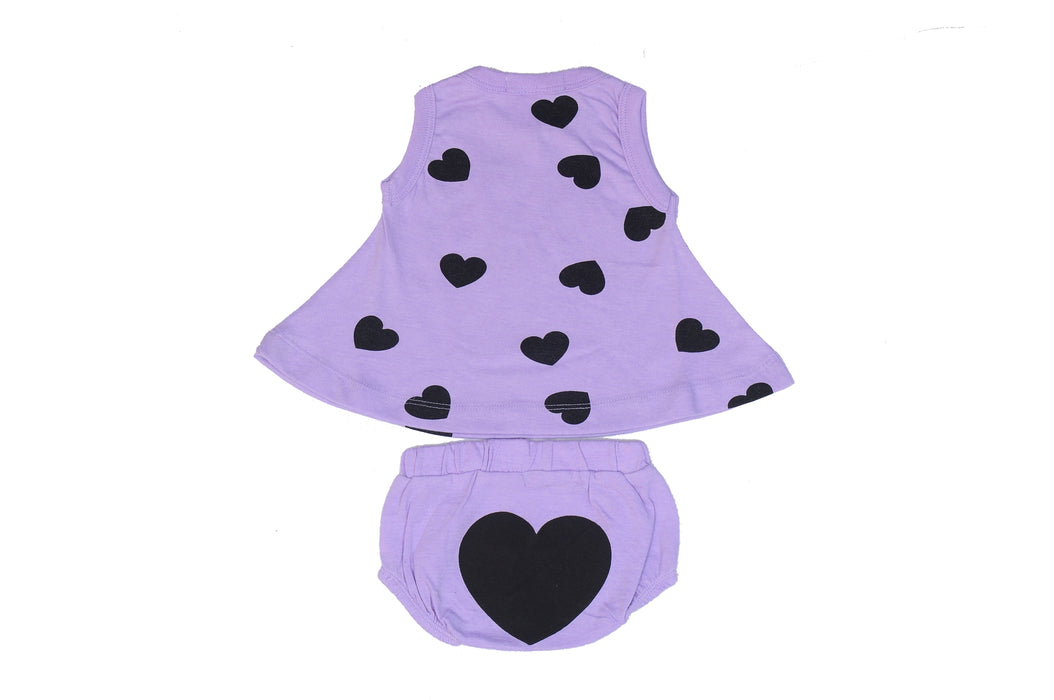 NEW Little Mish Swing Top and Diaper Cover Set - Lilac