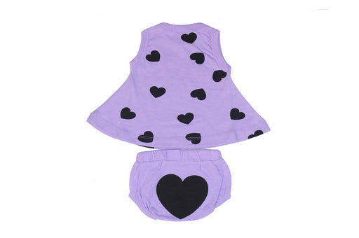NEW Little Mish Swing Top and Diaper Cover Set - Lilac (available in 3M and 6M only)
