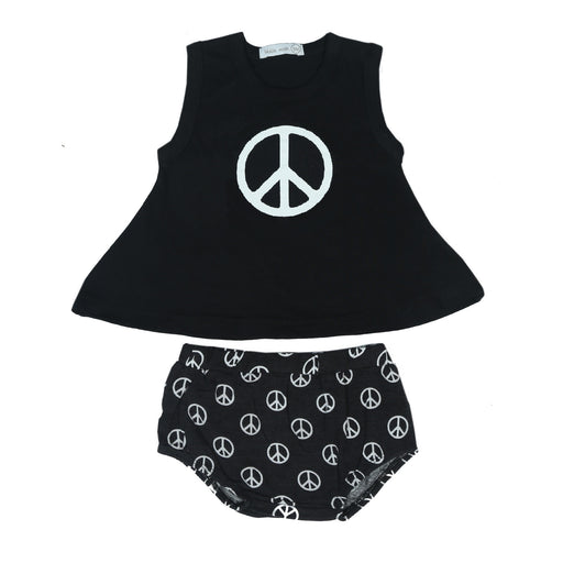 NEW Little Mish Swing Set - Black Peace Signs (4497851416651)