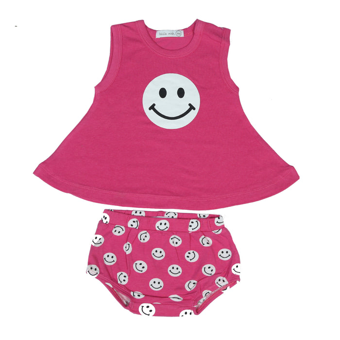 NEW Little Mish Swing Set - Bubblegum Smileys (4497864785995)