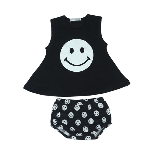 NEW Little Mish Swing Set - Black Smileys (4497894604875)