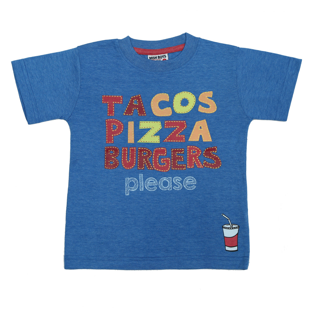 T-Shirt - Tacos, Pizza, Burgers (4465624023115)