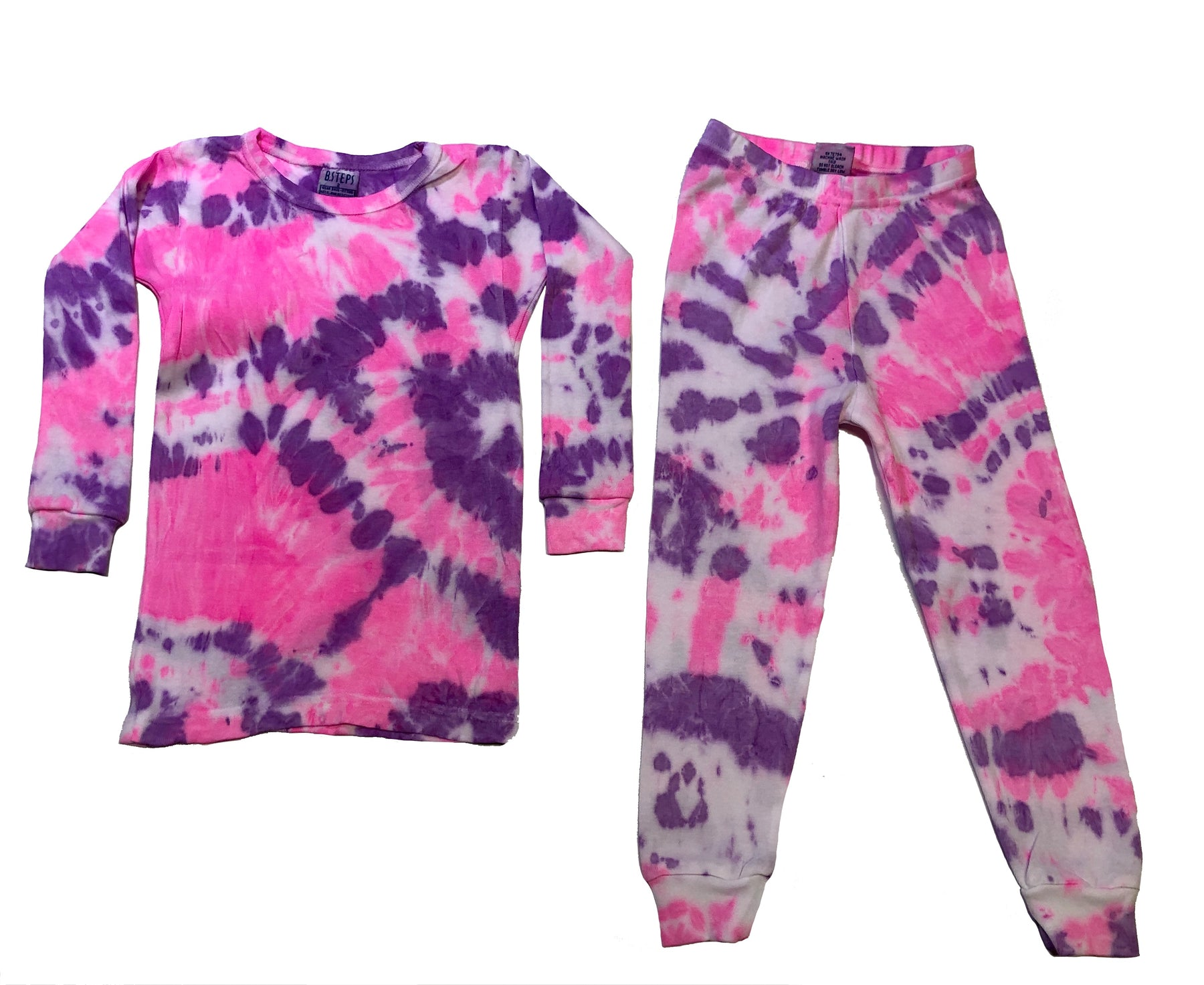 NEW Tie Dye Pajamas - Neon Pink/Neon Purple (4533996978251)