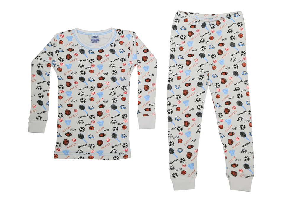 Boys Thermal 2 piece set - Sports on White