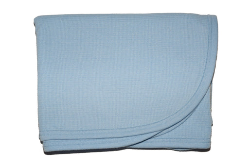 Little Mish SUPER SOFT Thermal Swaddle Blanket - Baby Blue (3517094821963)
