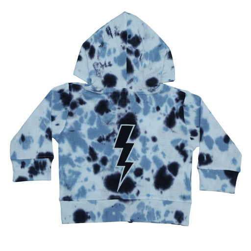 NEW Little Mish Thermal Zip Hoody- Navy Tie Dye With Lightning (4658656575563)