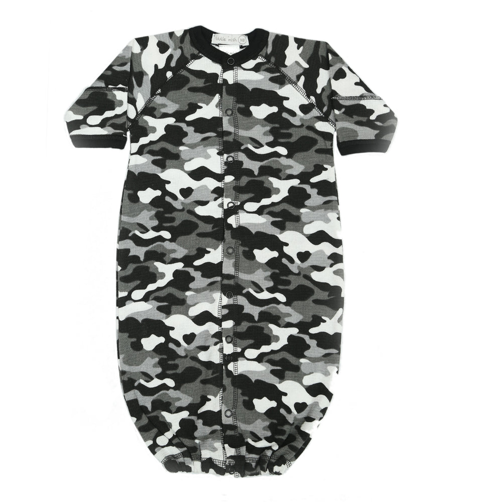 NEW Little Mish Thermal Converter Gown - Black Camo