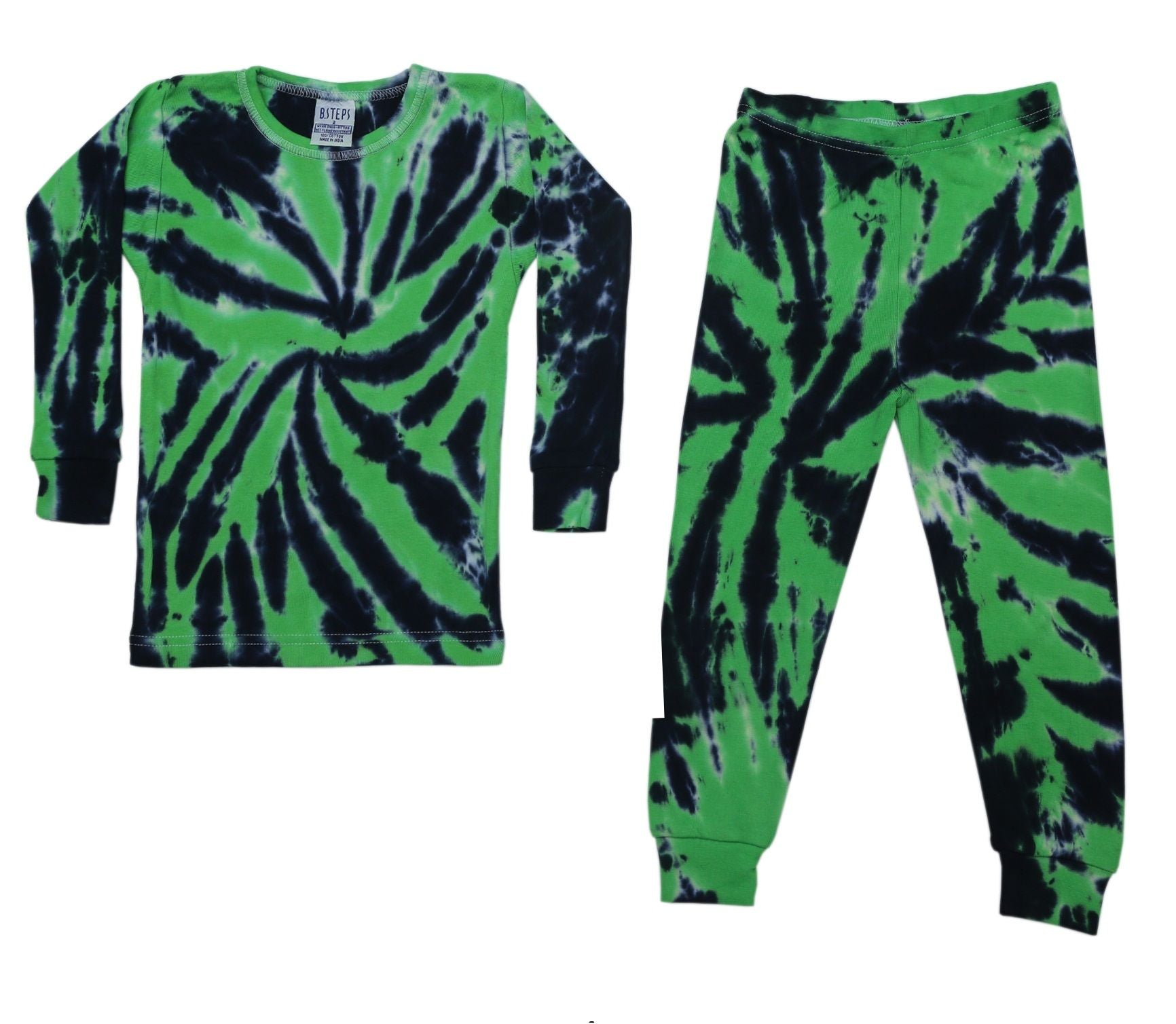 NEW!  Cotton Rib Knit Tie Dye Pajamas - Eli (4646101090379)