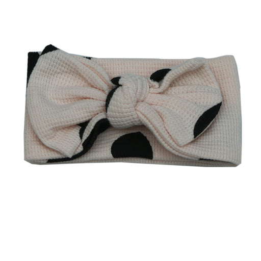 Little Mish Thermal Headband - Black Hearts on Pink (4734691606603)