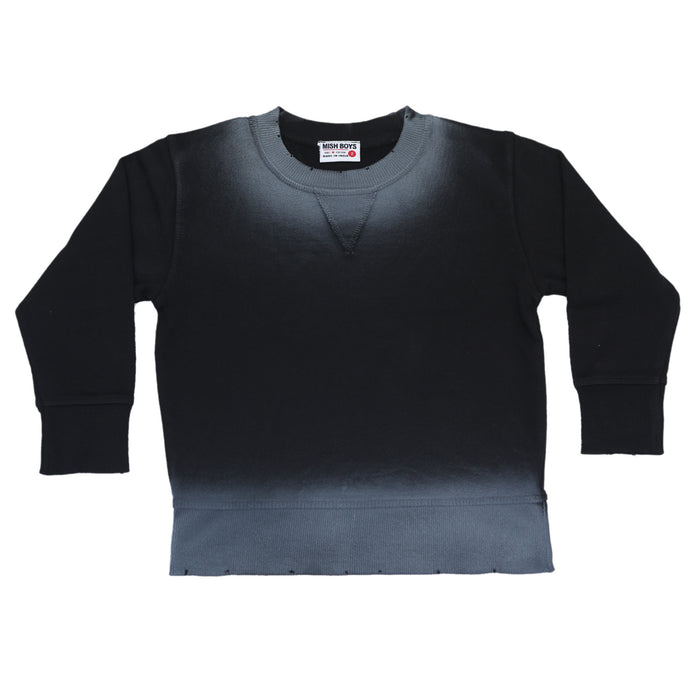 NEW Ombré Sweatshirt - Black (4664135286859)