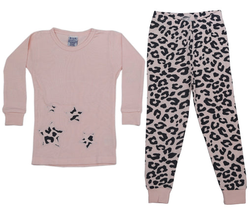 New BSteps Thermal Pajamas - Pink/Black Cheetah (4691770998859)