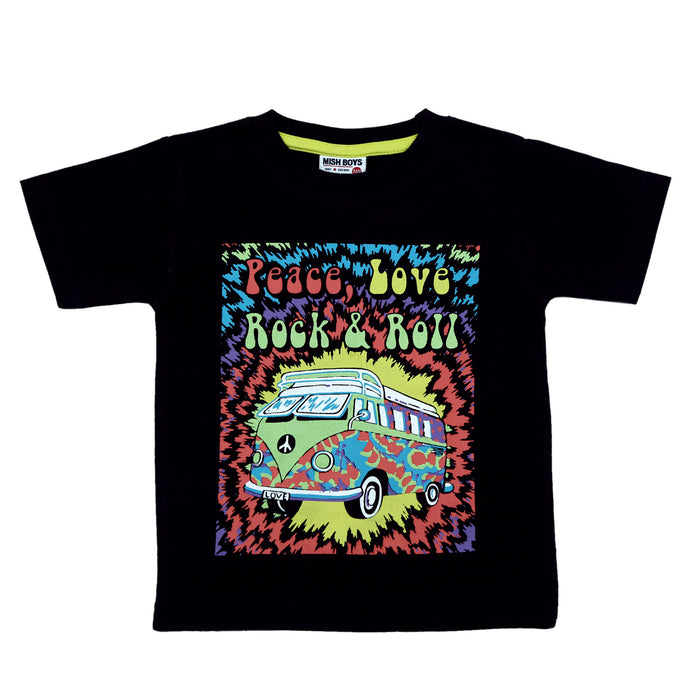 NEW! T-Shirt - Peace Love Rock & Roll (4738859466827)