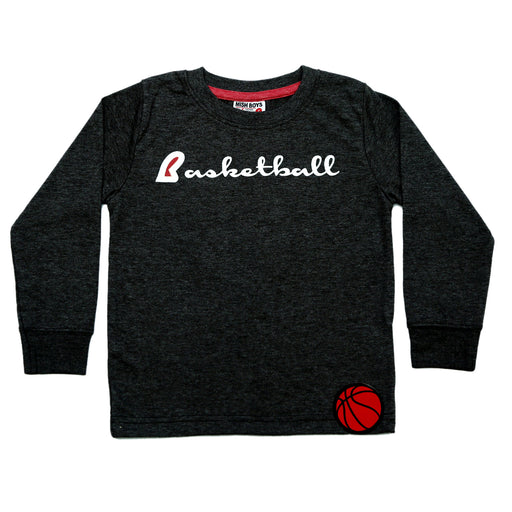 NEW Long Sleeve Distressed Shirt - Basketball (4663749574731)