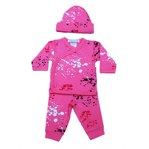 NEW SS21 Little Mish Splatter 3 Piece Set - Pink (4650479288395)
