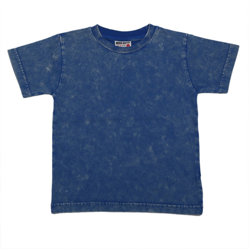 Solid Enzyme Wash Tee - Cobalt (6556316991563)