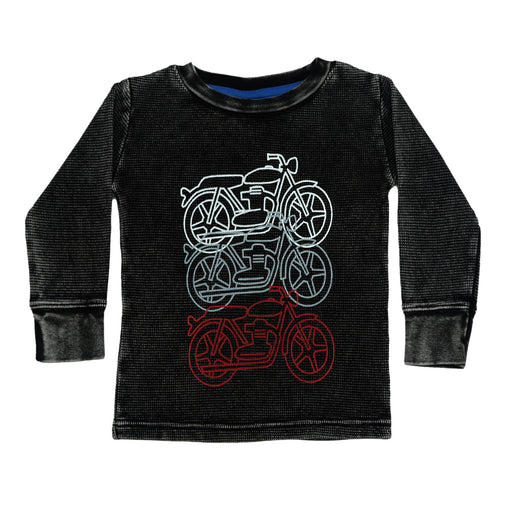 NEW Long Sleeve Thermal Enzyme Shirt - Motorcycles (4663926030411)