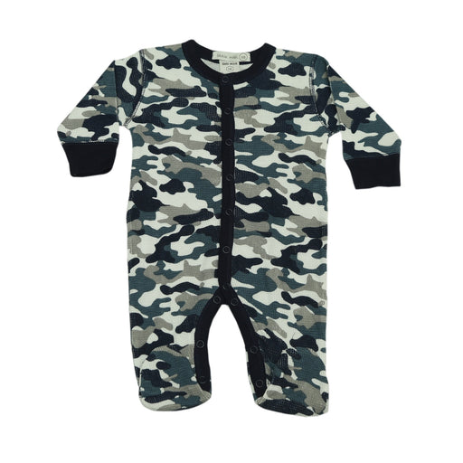 NEW FW20 Little Mish Thermal Camo Footie - Navy (4657136402507)