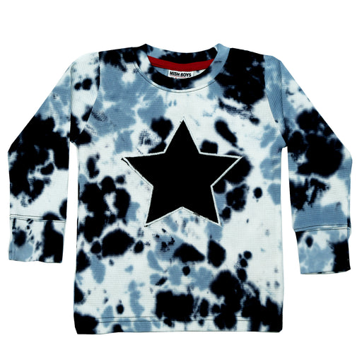 NEW Long Sleeve Shirt - Navy Tie Dye With Star (4659108053067)