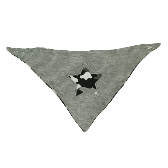 NEW FW20 Little Mish Reversible Thermal Bandana Bib - Black Camo with Star (4653617840203)
