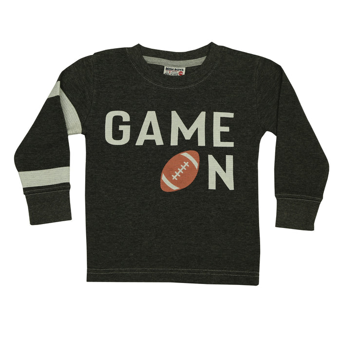 NEW Long Sleeve Distressed Thermal Shirt - Game On (4663737712715)