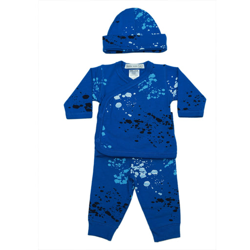 NEW SS21 Little Mish Splatter 3 Piece Set - Cobalt (4650465689675)