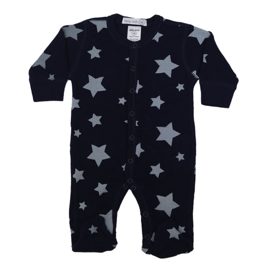 NEW FW20 Little Mish Thermal Stars Footie - Heather Stars on Navy (4657145282635)
