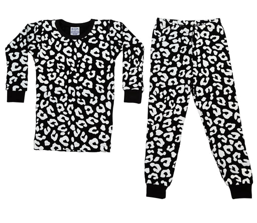New BSteps Thermal Pajamas - Black/White Cheetah (4691734134859)
