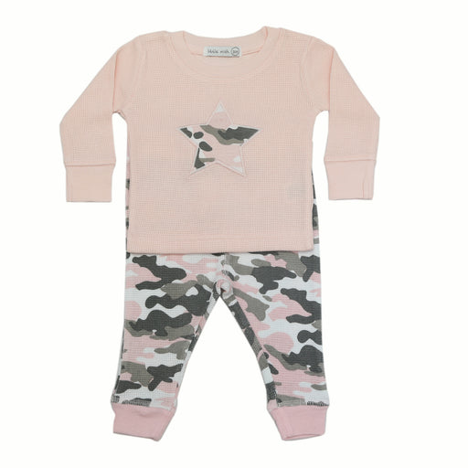 NEW FW20 Little Mish Thermal Pants Set - Pink Camo With Star (4653772898379)