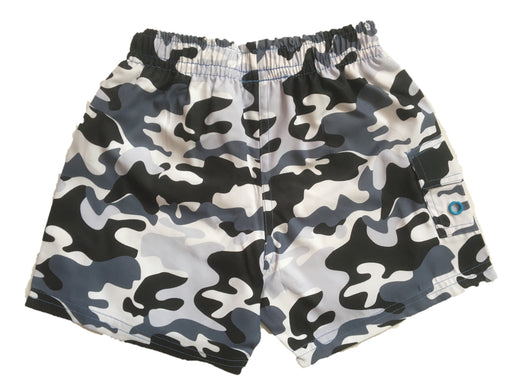 NEW! Swim Board Shorts - Black Camo With Stars (4739750101067)
